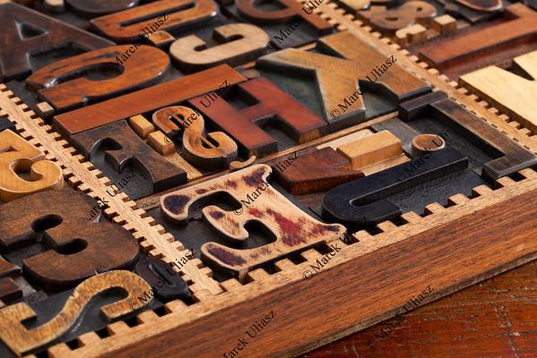 antique letterpress prinitng blocks