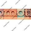 promotion in letterpress type