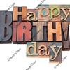 Happy Birthday in letterpress type