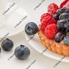 fruit tart with blueberries