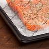 baking salmon on rock salt