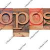 proposal word in letterpress type