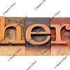 where question in letterpress type