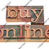 buy online words in letterpress type