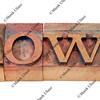 how question in letterpress type
