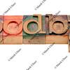 goodbye - word in wood letterpress type