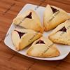 three-cornered  hamantaschen cookies