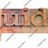 guide word in letterpress type