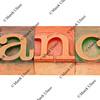 dance word in letterpress type