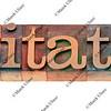 invitation - word in letterpress type