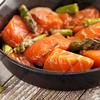 salmon and asparagus stir fry