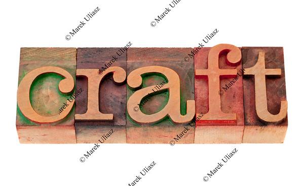 craft in letterpress type