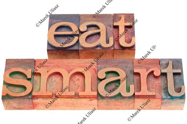 eat smart in letterpress type