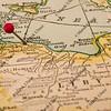 Libya and Tripoli on vintage map