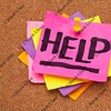 help posted on bulleting board