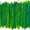green and blue abstract painted on canvas