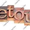 detour word in letterpress type
