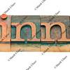 winner word in letterpress type