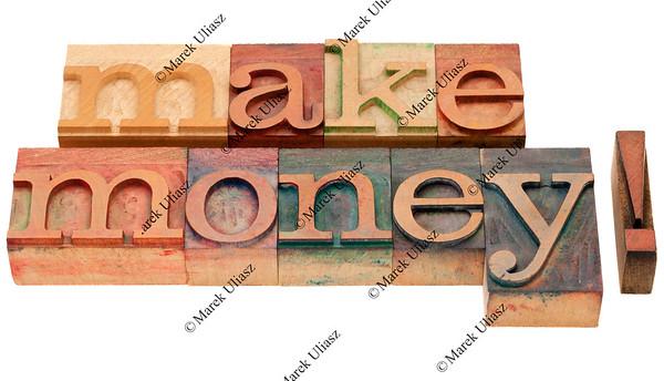 make money in letterpress type