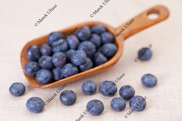 scoop of blueberries