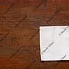napkin on weathered wood