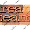 dream team in letterpress type