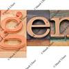 legend in letterpress type