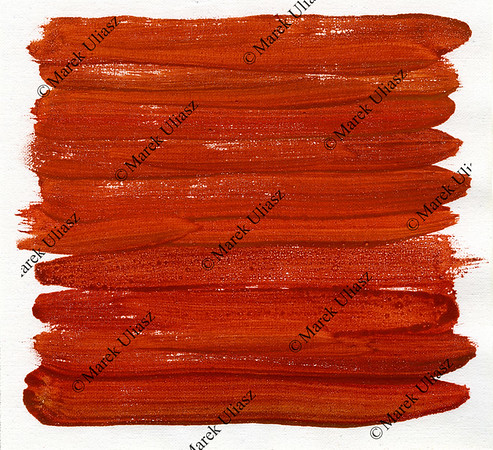 red abstract painted on canvas