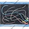slate blackboard and chalk