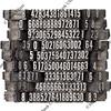 random numbers in letterpress type
