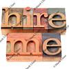hire me in letterpress type
