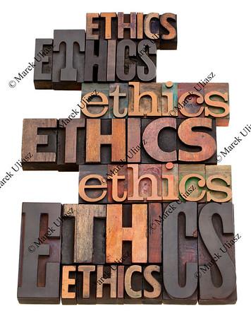 ethics word collage
