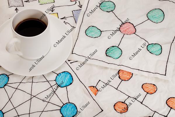 network schematics - napkin doodle