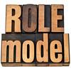 role model in letterpress type