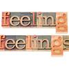 feelings in wood type in wood type