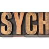 psyche word in wood type