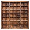 vintage wood typesetter case