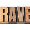 travel word in letterpress wood type