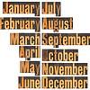 month in letterpress wood type