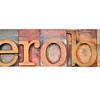 aerobic word in letterpress type