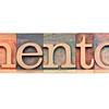 mentor word in letterpress wood type