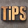 tips in letterpress wood type