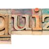 quiz word in wood type