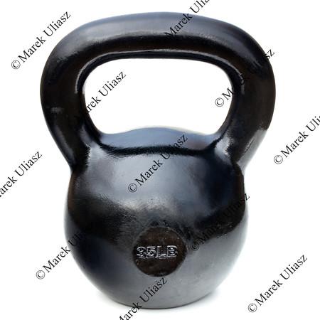 black shiny heavy kettlebell