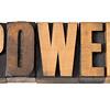 power word in wood type