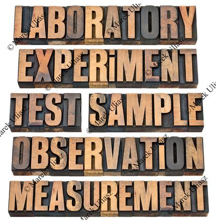 experiment, observation, test