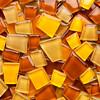 amber glass mosaic tiles