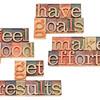 goals, efforts, results, feeling good