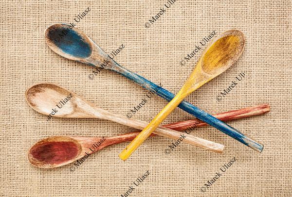 rustic wooden spoons