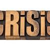 crisis word in vintage wood type
